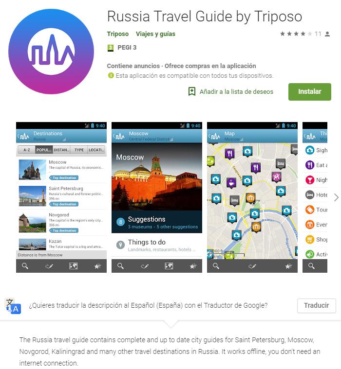 App del turismo en rusia para el mundial rusia 2018
