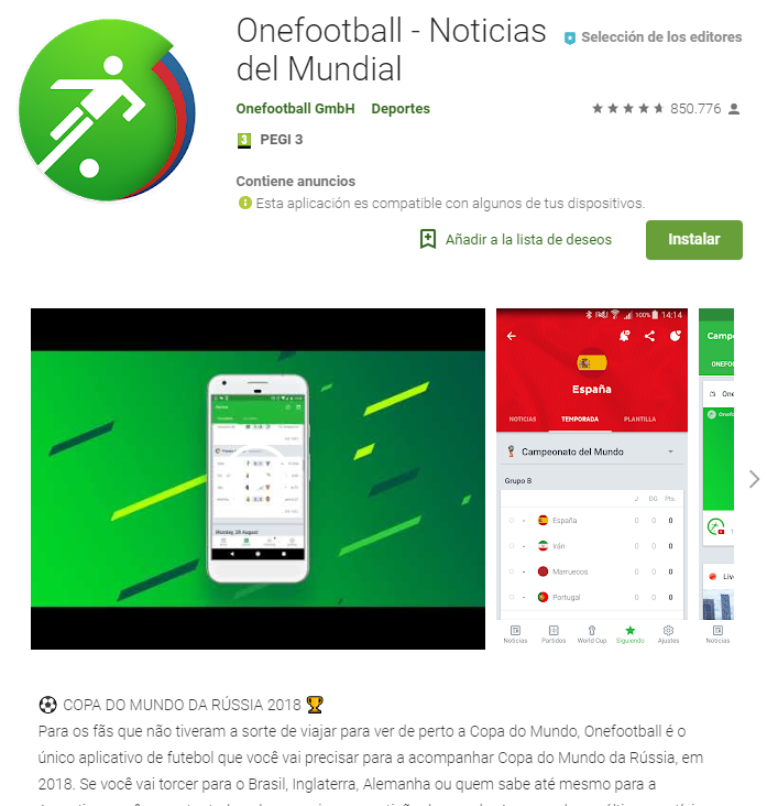 App mundial rusia onefootball