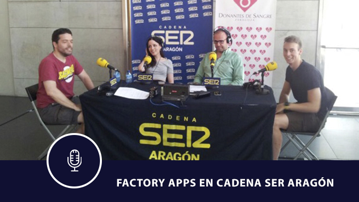 Factory Apps de visita en Cadena Ser Aragón