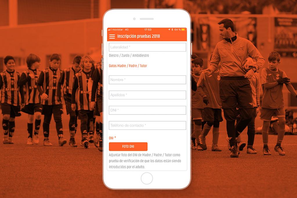 Inscripciones para la app oficial del Patacona CF